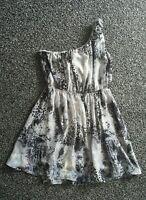 Stunning ladies size 14 'Miso' grey/black leopard animal print mini skater dress