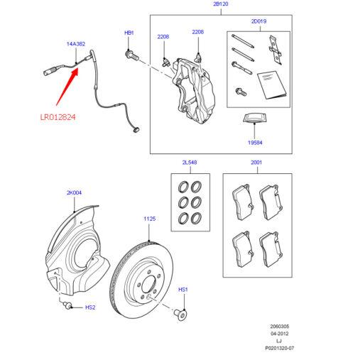 New Front Brake Pad Wear Sensor Set For 10-13 Land Rover  Range Rover  LR012824