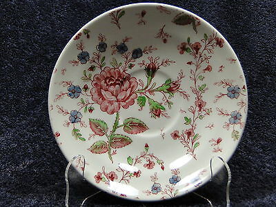 """Johnson Brothers Rose Chintz Large Saucer for Cream Soup Bowl or 7"""" - EXCELLENT!"""