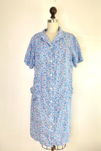 Vtg 30s 40s WWII Floral House Day Dress VOLUP pock