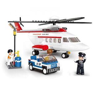 SLUBAN Bausteine Aviation Helicopter 259 Teile NEU B0363