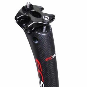EC90 3K Carbon Seatpost Mountain Road Bike Seat Post Tube 25.4*350//400mm 200g