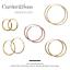 14ct Gold-Plated 925 Sterling Silver Hoop Sleeper Earrings Pairs