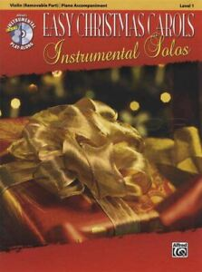 Easy Christmas Carols Instrumental Solos Violon Partitions Livre Avec Cd-afficher Le Titre D'origine Luxuriant In Design