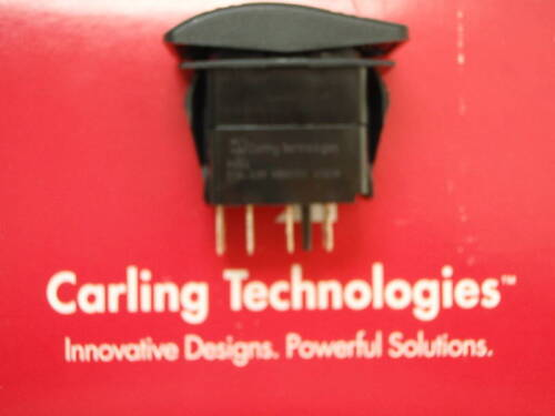 CONTURA ROCKER SWITCH VJD1G66B ON//OFF//ON BLACK ACTUATOR LIGHTED CARLING RED LENS