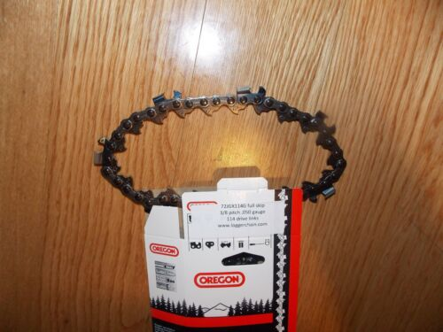 "1 Oregon  72JGX114G 36/"" Full Skip 3//8 .050 114 DL Full Chisel chainsaw chain"