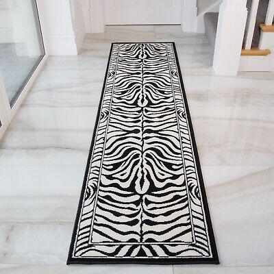 Monochrome Black White Zebra Rugs Long