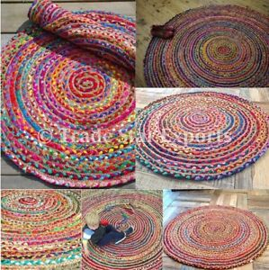 Image Is Loading Indian Round Braided Floor Rug 28 034 Cotton