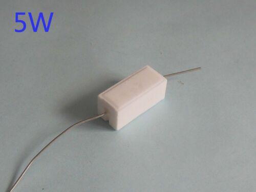 US Stock 10pcs 5W 47 Ω ohm 47RJ Cement Resistors ±5/% Ciment Resistance Fixed