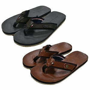 cefc3d31c1cc Tommy Hilfiger Flip Flops Mens Drew 2 Sandals Beach Footwear ...