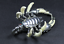 Teeth-of-wolves-Tibetan-silver-Scorpion-Pendant-decorate-Statues miniature 5