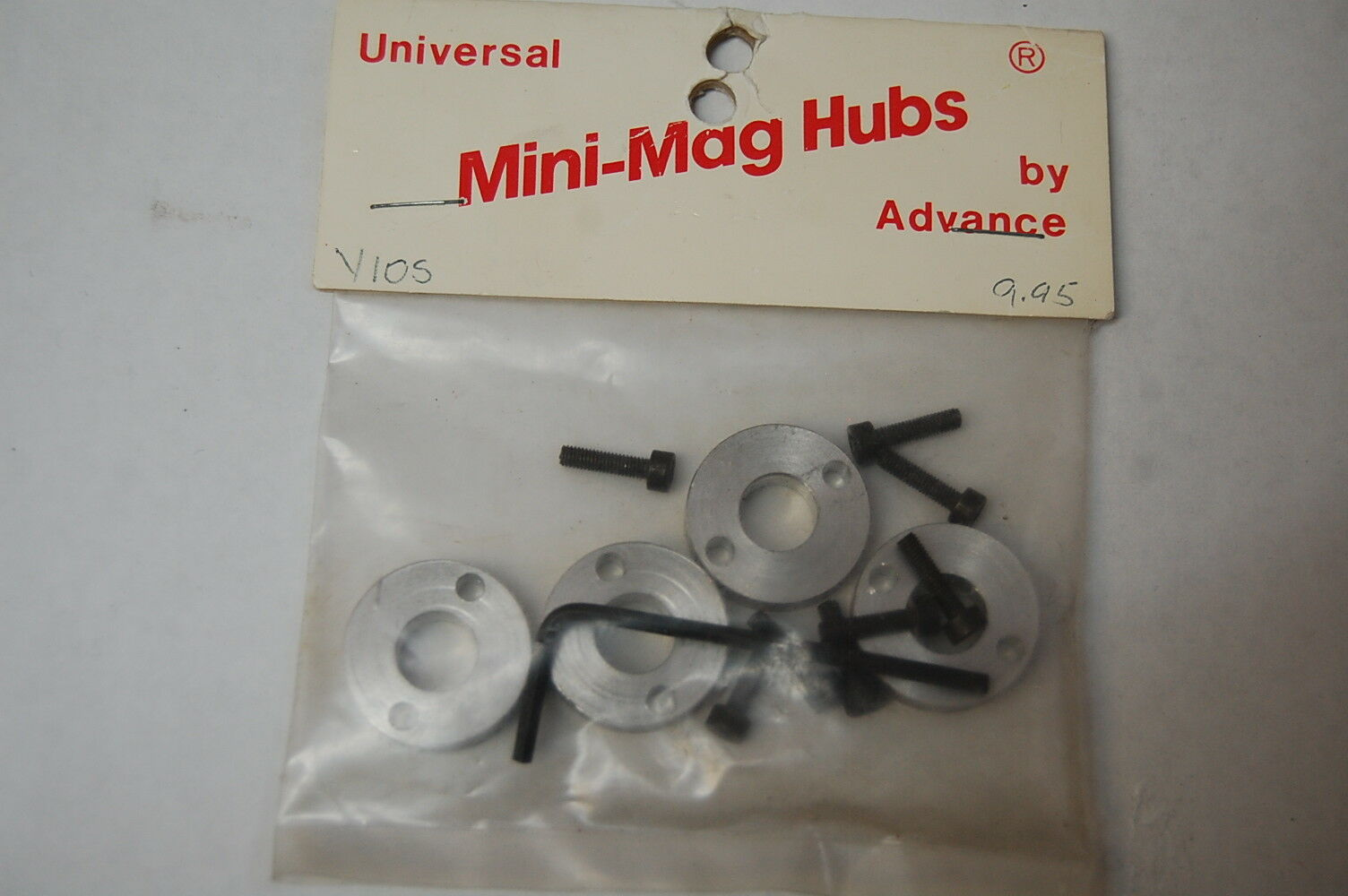 Mini Mags Advanced Engineering Vintage Set V10S Aluminum Hubs Front and Rear