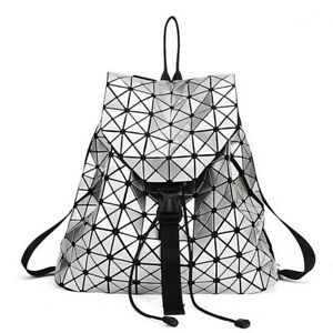 Image is loading Women-Backpack-Geometric-Diamond-Backpacks -For-Teenage-Girl- 9917dcf8c63a6