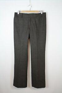 Banana Republic Women's Brown Wool Blend Striped Martin Fit Dress Pants 8