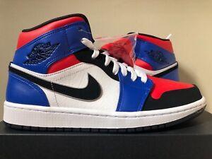 68bc6623a5c99a Air Jordan 1 Mid Top 3 Red Blue Black 554724-124 8-9 LIMITED 100 ...
