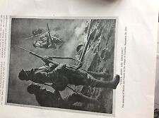 74-9 ephemera picture ww1 french and british meet combles village 1916