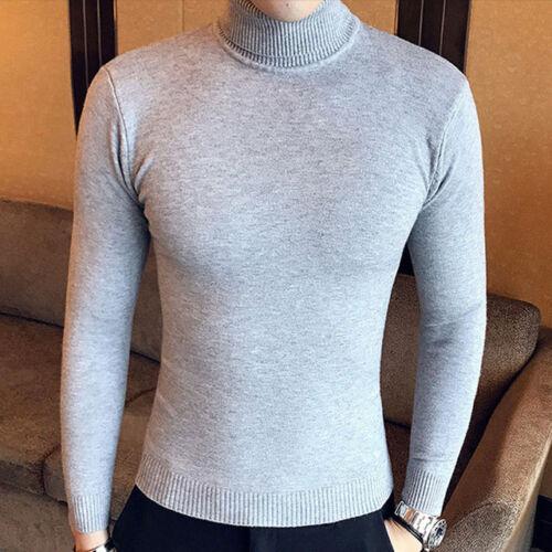 Suéteres para hombre Slim Fit Pulóver Hombres Prendas de punto Suéter caliente