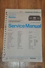Philips 70FC290 /00R /05R Cassette Deck Vintage Workshop Service Manual
