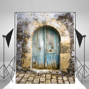 Image is loading 5x7-Old-Door-Brick-Wall-Vinyl-Prop-Backdrops- & 5x7 Old Door Brick Wall Vinyl Prop Backdrops Photography Background ...