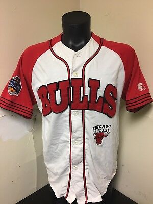 official photos 66147 4e8cf Vintage Starter Chicago Bulls Baseball Jersey Sz Medium | eBay