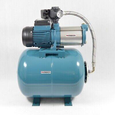 6000L//H 5,5bar Weisbach 50L Hauswasserwerk Hauswasserautomat Pumpe 1300W