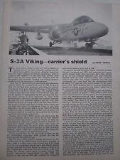 11/1974 ARTICLE 6 PAGES LOCKHEED S-3A VIKING US NAVY CUTAWAY