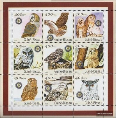 Topical Stamps Birds Self-Conscious Guinea-bissau 1437-1445 Sheetlet Unmounted Mint Never Hinged 2001 Birds Exquisite Craftsmanship;