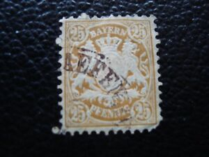 Bavaria-Germany-Stamp-Yvert-and-Tellier-N-65-Obl-A6-Stamp-Germany
