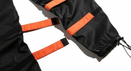 Men/'s Side Pockets Cargo Harem Pants Hip Hop Casual Tactical Jogger Trouser Flat