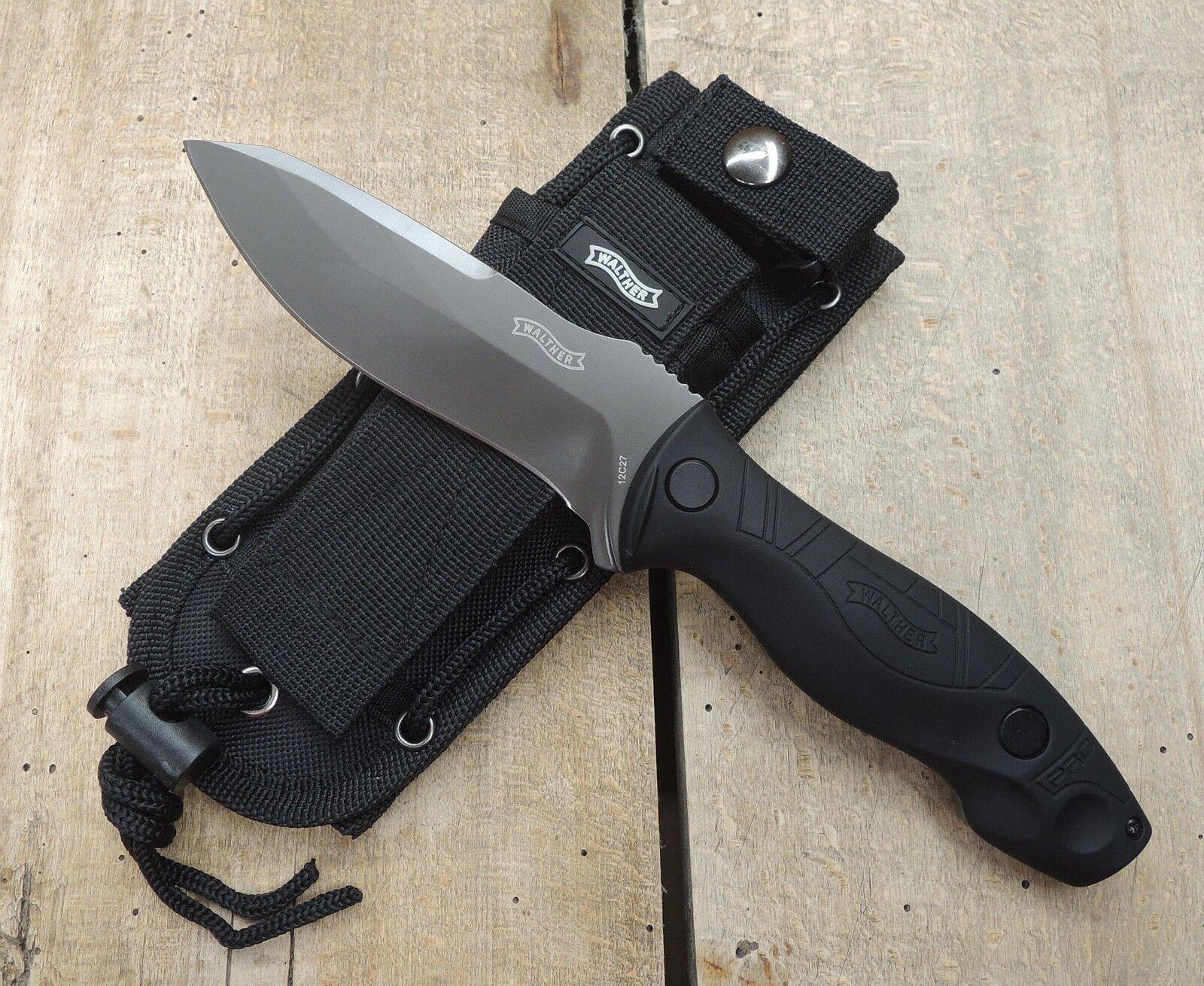 Walther Pro FBK FBK FBK Messer Fixed Blade Knife 12C27 Sandvik Stahl G10 Griff + Scheide d51373