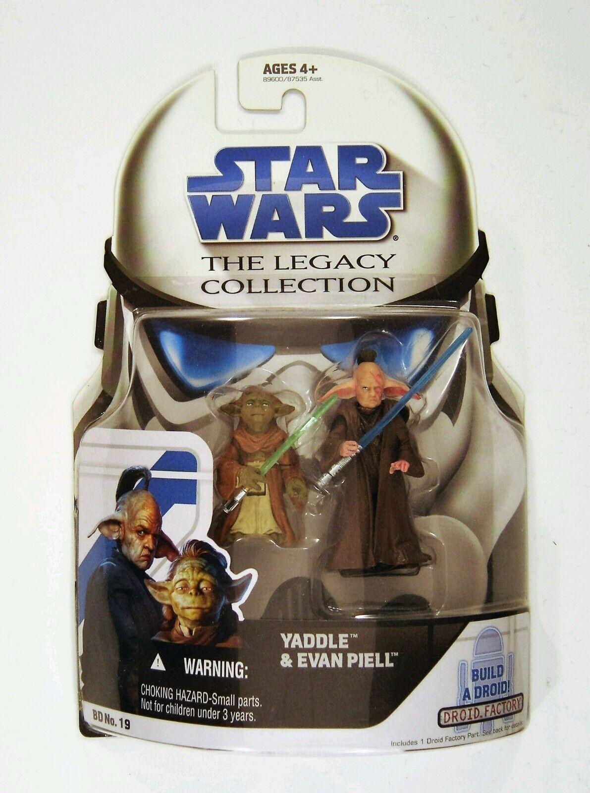 Hasbro Star Wars Legacy Collection Yaddle & Evan Piell 3.75 Figura Confezione
