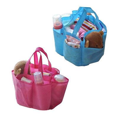 Multii-color Baby Travel Storage Bag Milk Bottle Diaper Nappy Organizer Handbag