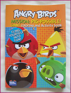 ANGRY-BIRDS-JUMBO-96p-ACTIVITY-amp-COLOURING-IN-Colour-in-BOOK-PIG-POSSIBLE-Color