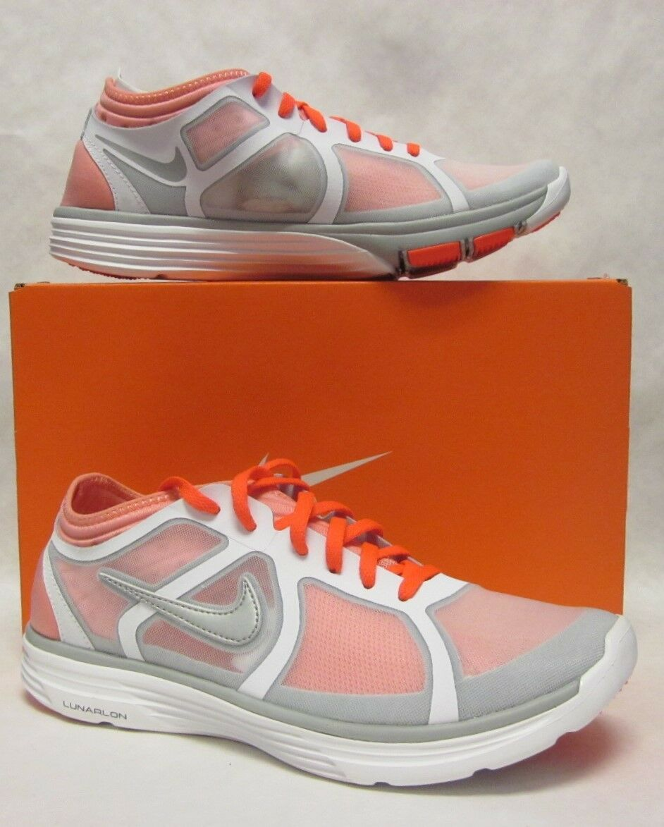 Nike Womens Lunarbase White Orange Sneaker - size 8 The most popular shoes for men and women