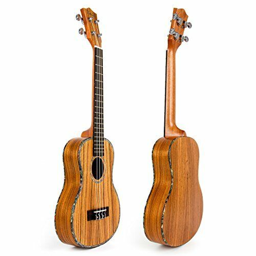 Thin Body 18 Fret Zebra Travel Ukelele Uke Hawaii Guitar - Ukulele-A5 26 Inch