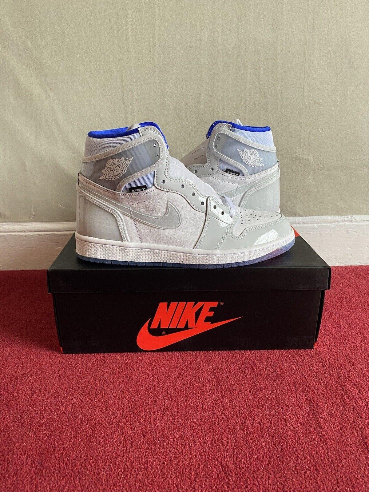 Jordan 1 Retro High Zoom White Racer Blue - Size UK 7 / US 8 - Deadstock