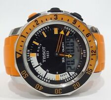 Tissot Sea Touch Watch Orange Rubber Band Sea Touch Sapphire Crystal EN 13319