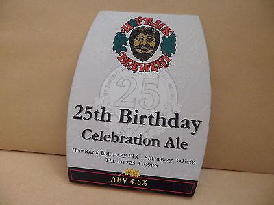 FleißIg Hopback Brewery 25 Geburtstag Ale Bier Pumpe Clip Gesicht Pub Bar Sammlerstück Modischer Stil; In