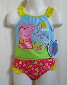 Peppa Pig Toddler Girl Bathing Swim Suit Tankini 5T New UPF 50+