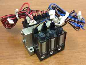 SMC-3-Dual-Solenoid-Valves-on-a-Manifold-w-Replacable-Individual-Filter-Units