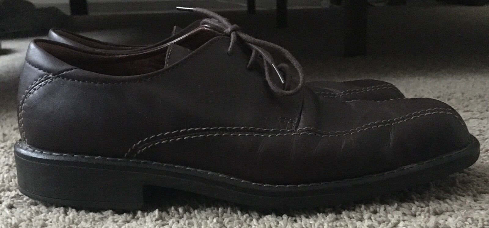 ECCO Men's Lace-up Oxford Casual shoes Sz 43 Euro US Sz 9.5  Brown Leather