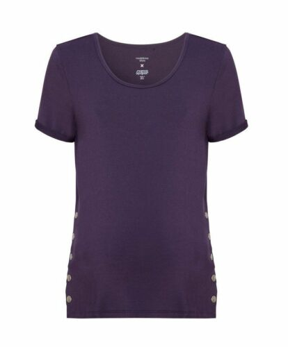 NEW Madeleine Shaw Mamas Papas Isabella Oliver Maternity Purple T-Shirt Top