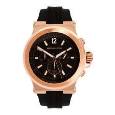 Michael Kors MK8184 Dylan Chronograph Black Dial Black Rubber Unisex Wrist Watch