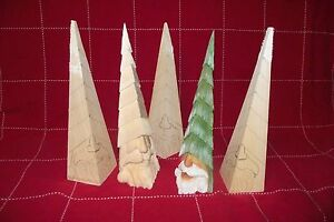 Peek-a-Boo Santa Christmas tree - Basswood Woodcarving Blank