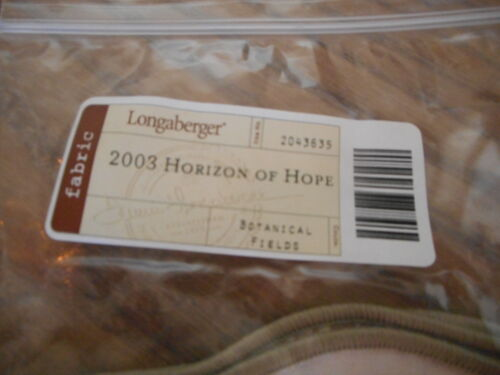 Longaberger Liner 2003 Horizon Of Hope Botanical Fields #2043635