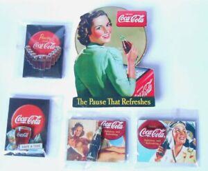 Coca-Cola-Stock-5-Magnets-Fridge-Magnets-IN-Wood-Girls-Sprite-Boy