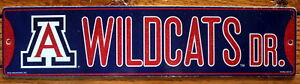 Street-Sign-Wildcats-Dr-NCAA-Lic-colorful-picture-University-of-Arizona
