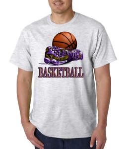 Bayside Usa Made T Shirt Sports Basketball Court Ball Shoes Design