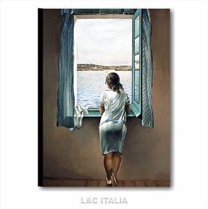Dal ragazza alla finestra quadro moderno 50x70 quadri su tela casa arredamento ebay - Ragazza alla finestra ...