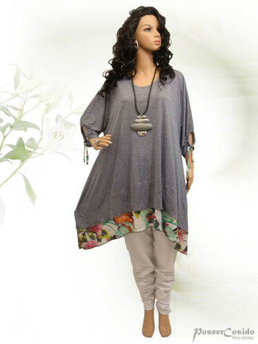 54 xxxl shirt 44 xxl 52 Tunika Long Lagenlook Design 58 56 xl 48 50 L Poco 46 Hxnqavg